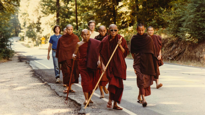 Monks on Alms Round in California