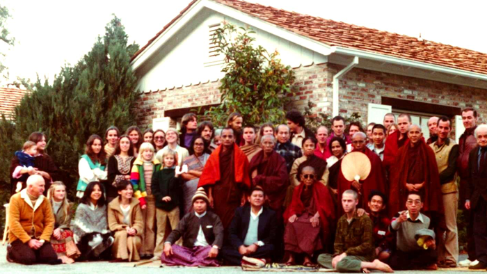 Taungpulu Sayadaw and Students