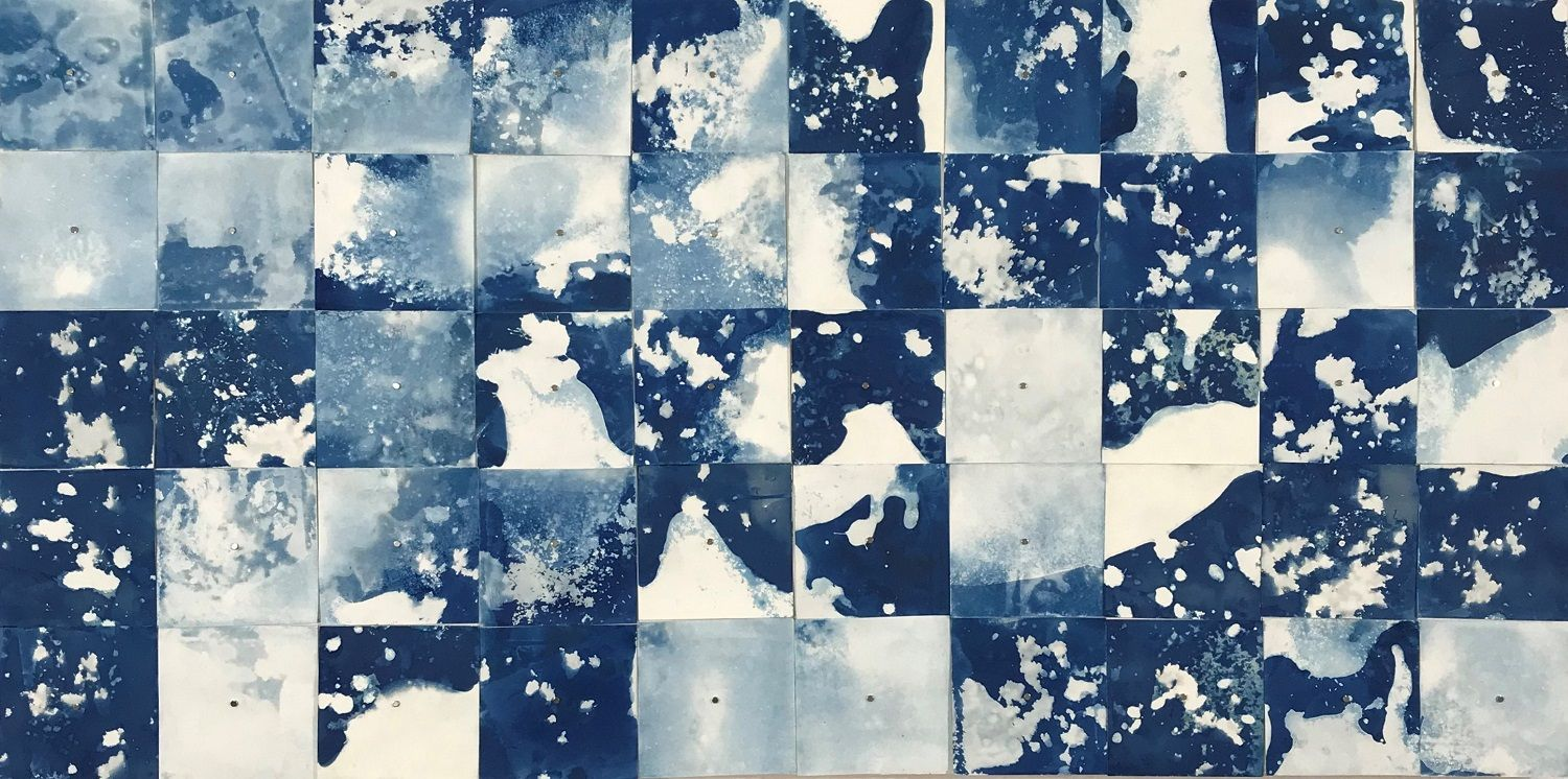 Cyanotypes of the Salton Sea by Quin de le Mer, student of the MFA program at California Institute of Integral Studies