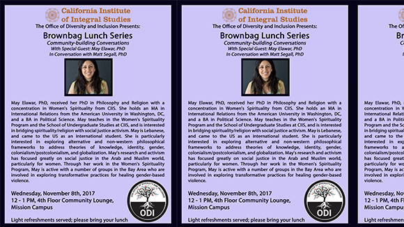 Brownbag Lunch with: May Elawar, PhD